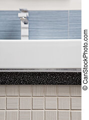Part of modern wash stand with mosaic - Part of modern wash...