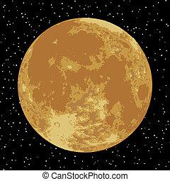 luna, el, realista, vector, imagen, EPS, 8