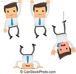 set of funny cartoon manager - set of funny cartoon office...