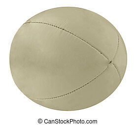 Rugby ball - A lite gray rugby ball over white