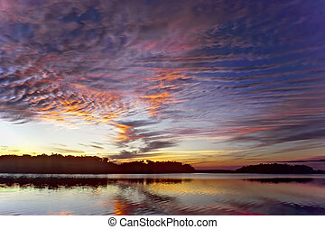 Everglades - Sunset at Pauratis Pond in the Everglades...