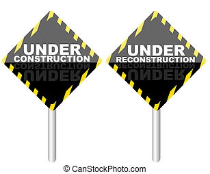 Under Reconstruction Sign - Under Construction Under...
