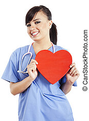 Female healthcare worker - Stock image of female healthcare...