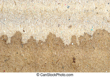 dry and wet  brown corrugate cardboard texture