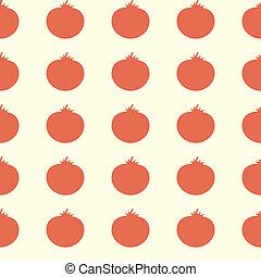 Seamless Tomato Pattern Background