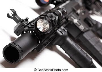 M4A1, carbine, tático, lanterna