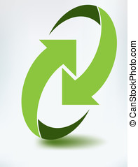 recycle icon - Recycle icon illustration on white background