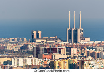Thermal power station in Barcelona