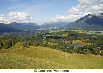Bavarian alps - Landscape in the Karwendel mountains in...