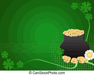 Saint Patrick's Day background - Abstract green background...
