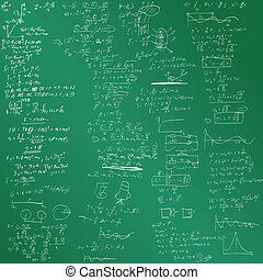 The vector background with physical formulas EPS 8 Green