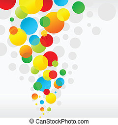 Cheerful ball - Background cheerful multi-coloured balls A...