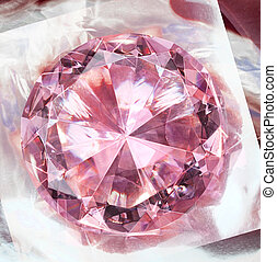 Pink diamond impression - Pink gemstone diamond shining on...