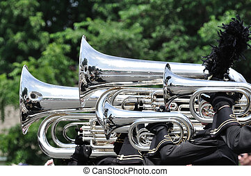 Playing Marching Tubas and Baritones in Parade - Performers...