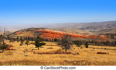 Prairie landscape - Scenic Prairie landscape in Montana in...
