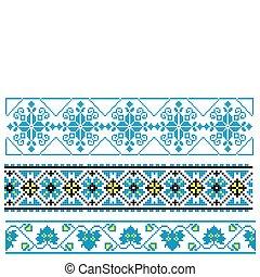 ucranio, bordado, ornamento