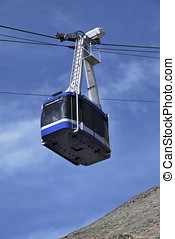 Tramway - Aerial tramway in the mountain Also known as cable...