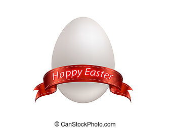 Easter egg - Happy easter! gifts ester egg with ribbbon