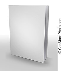 hardcover book - 3d hardcover book isolated on white...