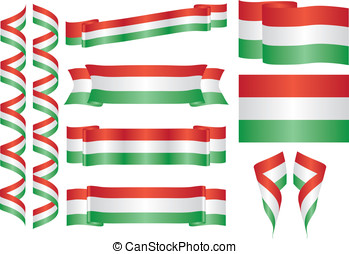 Hungary - set of hungarian vector elements. Decorative...