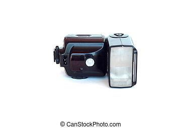 Flash light photo isolated on white