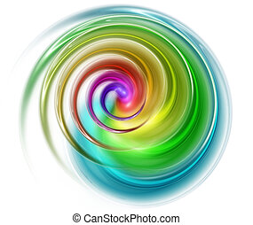 spiral spectral - abstract spectral spiral isolated on a...