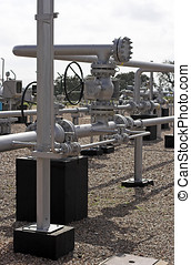 Gas - Equipment of a natural gas station
