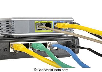 rúter, internet, teléfono, adaptador