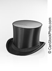 Black top-hat on white background
