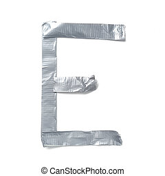 Letters made out of tape