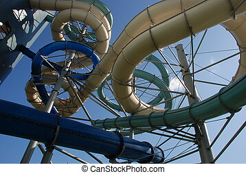 water park - spiral-shaped architecture captures the eye,...