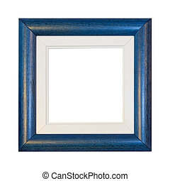 Blue frame - Blue photo frame isolated included clipping...