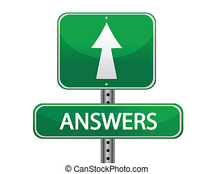 answers street sign illustration
