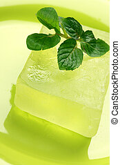 Handmade soap with mint