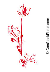 Stylized flower - Red stylized flower tulip