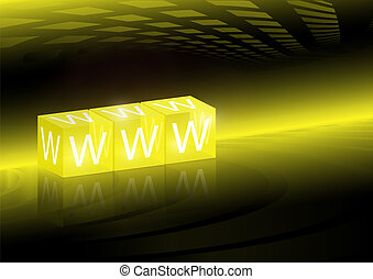 Web vector WWW 3D text background