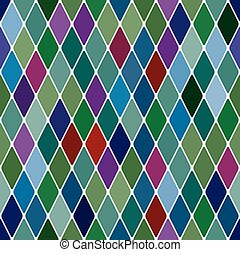 Harlequine Esmerald seamless pattern background vector...