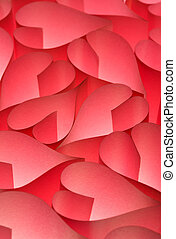 Valentine day red hearts background - Lovely red Valentine's...