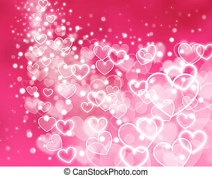 abstract pink background - hearts - abstract pink background...