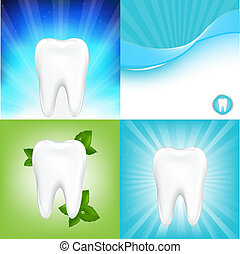 Stomatologic Background - 4 Dental Background With Tooth,...