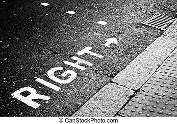 right signal in a crosswalk