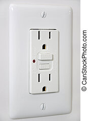 Outlet with secured button