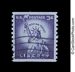 postage - post stamp printed in USA dedicated to the The...