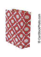 Floral pattern paper bag