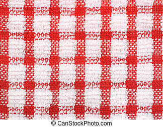 Checkered pattern texture of table cloth - Red and white...