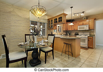Kitchen with eating area