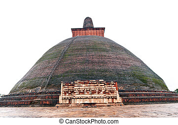 Anuradhapura - an ancient buddha temple at Anuadhapua...