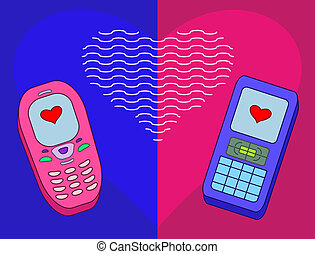Mobile phones-enamoured