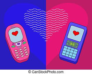 Mobile phones-enamoured