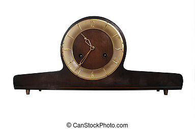 vintage mantel clock - A vintage mantel clock wooden with...